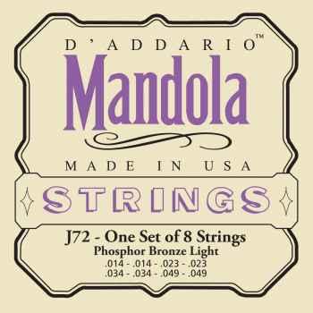 D´addario EJ72 Phosphor Bronze Mandola Light cuerdas para mandola